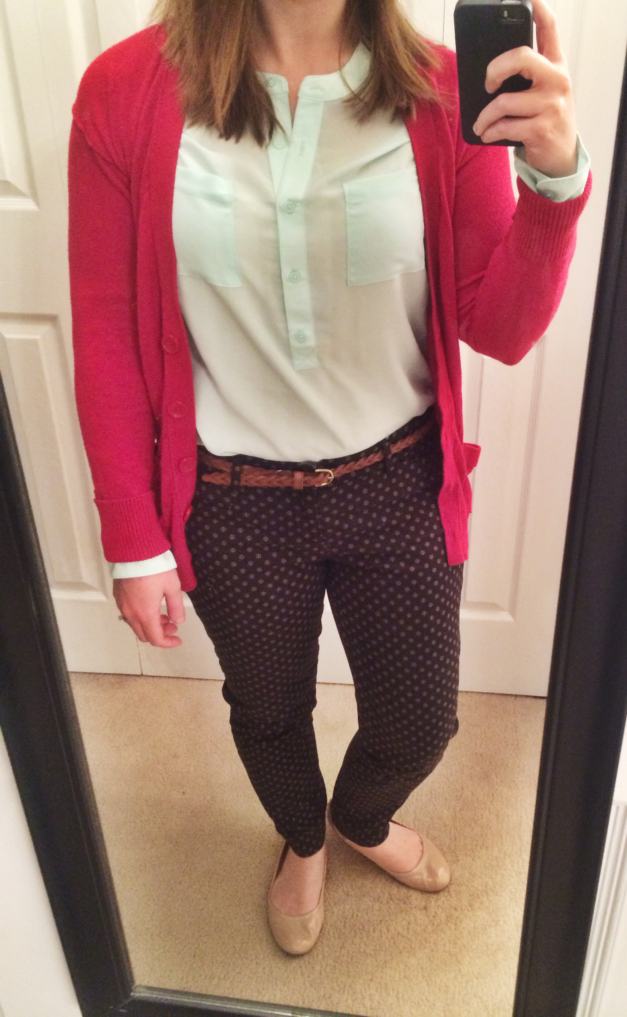 6a9a2cc430 Blouse  Old Navy — Sweater  Old Navy — Pants  Old Navy — Belt  Target —  Flats  Target